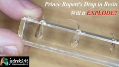 This time we will check if Prince Rupert's Drop explodes in epoxy resin. We will check it in slow motion Resin Art, Epoxy, Prince, Drop, Silver, Jewelry, Check, Jewlery, Jewerly