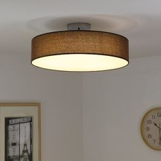 Kusun® 33W LED Ceiling Lights (2800K 4500K 6000K Dimmable), Flush Mount Ceiling Lights, Flush Ceiling Lights for Living Room, Bedroom, Dining Room CL811 (Brown): Amazon.co.uk: Lighting