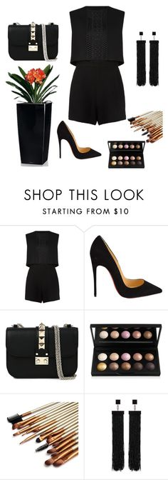 """""""Untitled #194"""" by dr-azzko ❤ liked on Polyvore featuring Maje, Christian Louboutin, Valentino, Tom Ford, women's clothing, women, female, woman, misses and juniors"""