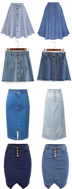 Denim Skirt is very essential in this summer and fall, which makes you more chic and young. Search more special items at 80s Inspired Outfits, 80s Skirts, Denim Skirts, Trendy Outfits, Fashion Outfits, Pencil Skirt Outfits, Hippie Outfits, Latest Street Fashion, Vintage Denim