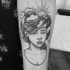 ideas for tattoo unique design ink Top Tattoos, Unique Tattoos, Beautiful Tattoos, Body Art Tattoos, Tatoos, Portrait Tattoos, Bad Tattoo, Piercing Tattoo, Tattoo Sonne Mond