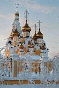 Preobrazhensky Cathedral in Yakutsk City, Russia