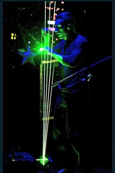 how awesome is this!?!  Chris & laser harp!