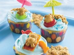 swimming teddy grahams so cute for a kids pool party