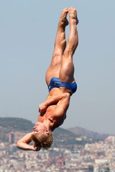 Jack Laugher of Great Britain competes in the Men's 3m Springboard Diving semi final on day six of the 15th FINA World Championships at Piscina Municipal de Montjuic on July 25, 2013 in Barcelona, Spain.