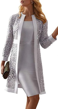 Mother Of The Bride Dresses Long, Mother Of Bride Outfits, Formal Dresses For Women, Mothers Dresses, Elegant Dresses, Beautiful Dresses, Formal Jackets For Women, Formal Wear Women, Tea Length Dresses