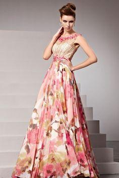 スペシャルデザイン☆ カラフルな高級ロングドレス♪ - ロングドレス・パーティードレスはGN|演奏会や結婚式に大活躍!