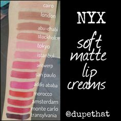 NYX soft matte lip creams