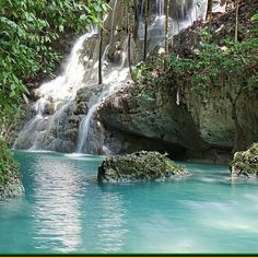 Blue hole in St. Ann, Jamaica West Indies  Going there next week.  Dare I jump in?  It's only 35ft down :)