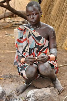 Kachipo tribe in South-Eastern South Sudan, living on the plateau east of Boma, towards the Ethiopian border, some live even in Ethiopia, related to both Surma and Mursi tribes