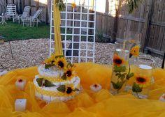 sun flower baby shower