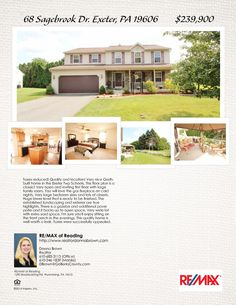 68 Sagebrook Dr, Exeter, PA 19606.  Open House on Sunday 11-9.  1-3.