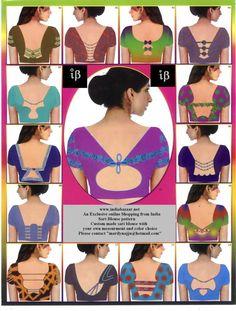 saree blouse back neck designs | MeGruhini
