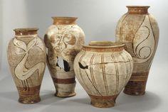 Vases peints gaulois, Clermont-Ferrand. IIe s. av. J-C. ©SRA Auvergne