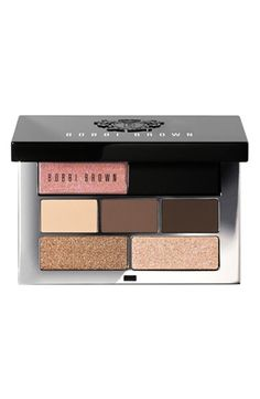 Pretty, effervescent and shimmering, this palm-sized palette fits perfectly in the clutch.