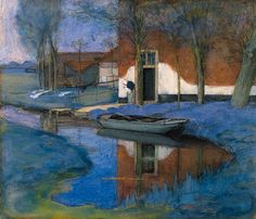 Piet Mondriaan:  A Farm Building  (1901)Beautiful colours