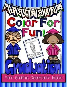 End of the School Year Graduation Day Color For Fun! Color For Fun Printable Coloring Printables Fun Classroom Activities, Kindergarten Activities, Classroom Ideas, Preschool Ideas, Kindergarten Graduation, Graduation Day, Kindergarten Classroom, Cool Coloring Pages, Free Coloring