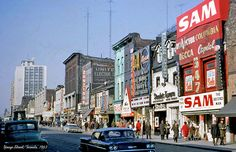 Toronto's main streets looked remarkably different in the Even as the city is more populated and vibrant today, the aesthetic of the urban l. Toronto Street, Toronto City, Toronto Ontario Canada, Toronto Photos, Canadian History, North York, Street Look, Nova Scotia, 1960s