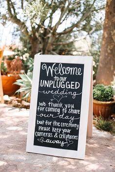 20 Wedding Signs Your Guests Will Love www.weddingplanner.co.uk wedding planner, wedding, wedding signs, wedding DIY, unplugged wedding