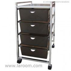 Laroom carrito ancho 4 cajones blancos laroom dise a - Carrito con ruedas ikea ...