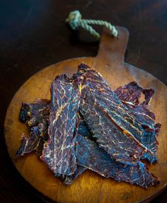 Homemade Korean-style Beef Jerky Recipe - say no to the chemicals used in beef jerky! Making your own is easy. ~ http://steamykitchen.com