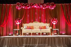Reception backdrop by ANAIS EVENTS / photo by Wedding Documentary / venue: Fairmont Hotel, San Jose.