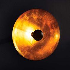 """Wandleuchte """"Golden Eye"""" aus Metall gold/schwarz"""