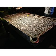 I would totally have a pool table if it were leopard print Animal Print Decor, Animal Prints, Woman Cave, Lady Cave, Pinterest Home, Rack, Interior Decorating, Interior Design, Cool Pools