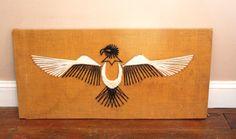 Vintage Phoenix String Art by VidaliasVintage on Etsy