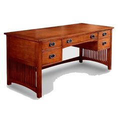 Genial Craftsman Style Desk.