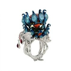 """Dior ring  from """"Belladone Island"""" collection, 2007 - created by Victoire de Castellane for Dior Fine Jewelry"""