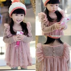 Toddlers Girls Princess Faux 2 Pcs Knit and Tulle Dress D080 Pink Size 100 | eBay