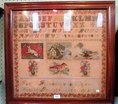 An Early 20th Century FRENCH Sampler ~ invaluable.co.uk