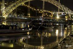 #PORTO #PONTEDOMLUIS Douro, Sydney Harbour Bridge, Photography, Travel, Port Wine, Landscape Photography, Black White, Boats, Photos