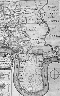 Great maps of East London here Old Maps Of London, London Map, Vintage London, Old London, London City, Tower Hamlets, East End London, Historia Universal, Isle Of Dogs