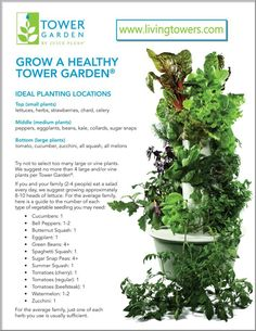 Grow a healthy tower garden it is awesome! I have two, one that is 5 feet tall and one that is 7 feet tall. It produces magnificent organic lettuces, tomatoes, peppers, herbs etc. Truly remarkable. Ask me how: