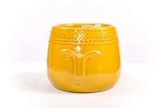 Happy pot, medium, geel.