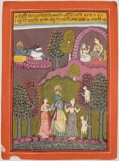Krishna with Gopis and Asleep Indian, Rajasthani, Late century Rajasthani Painting, Rajasthani Art, Pichwai Paintings, India Painting, Classical Mythology, Indian Folk Art, India Art, Krishna Art, Islamic Art