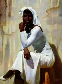 """""""Black and White"""" - William Shih-Chieh Hung (Chinese, b. oll on canvas {figurative art female black woman woman cropped painting Black Girl Art, Black Women Art, Art Girl, Art Of Women, African American Art, African Art, Black Artwork, Afro Art, Love Art"""