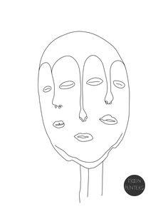 Moon Hunters, Mask Tattoo, African Masks, Horns, Eagle, Ink, Pattern, Handmade, Masquerade Tattoo