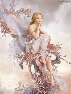 ≍ Nature's Fairy Nymphs ≍ magical elves, sprites, pixies and winged woodland faeries - Fantasy Girl, Chica Fantasy, 3d Fantasy, Fantasy Fairies, Fantasy Artwork, Magical Creatures, Fantasy Creatures, Fairy Land, Fairy Tales