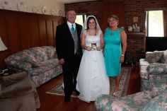 The Bride and her Parents.