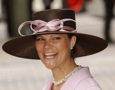 Crown Princess Victoria, June 12, 2004 in Philip Tracy | Royal Hats