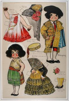 Paper Dolls From the 40s | 40: Original drawing by Grace Drayton for paper doll