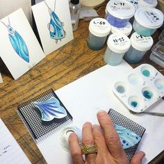 Chuck's stunning designs are coming to life in Linda Darty's Enameling and…