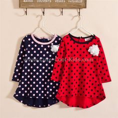ชุดกระโปรงเด็ก เดรสเกาหลี สีแดง 100 สีน้ำเงิน 100 120 130 140