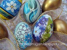 Beautifully decorated eggs by my grandma