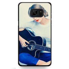 Taylor Swift Playing Guitar Wallpaper 1280x1024 TATUM-10548 Samsung Phonecase Cover For Samsung Galaxy Note 7