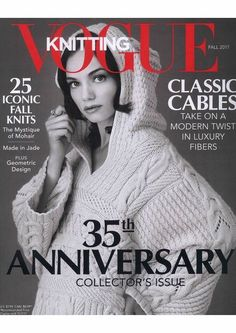 Vogue Knitting Magazine Fall 2017 Aniversary Special Photos of each pattern included in this edition, along with yarn requirements, can be found here. Vogue Knitting, Knitting Books, Crochet Books, Knitting Patterns Free, Knit Patterns, Free Knitting, Knitting Magazine, Crochet Magazine, Crochet Jumper