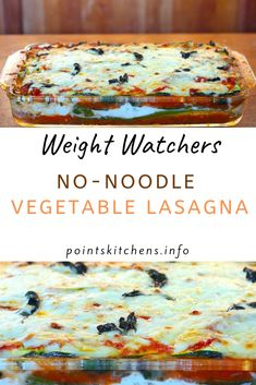 No-Noodle Vegetable Lasagna come only with 5 Weight Watchers SmartPoints // // // // // // // // // // // Weight Watchers Lasagne, Weight Watcher Taco Soup, Weight Watchers Vegetarian, Weight Watchers Casserole, Weight Watchers Menu, Weight Watcher Dinners, Weight Watchers Chicken, Weight Watchers Zucchini Lasagna Recipe, Ww Recipes